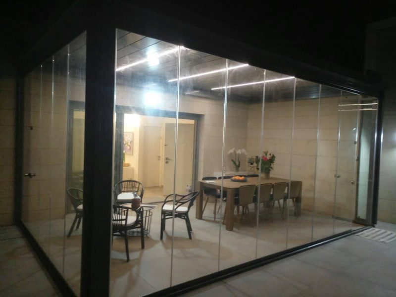 דלתות זכוכית - אלום צידן